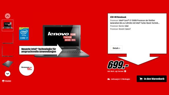 Lenovo G50-80 ©Media Markt
