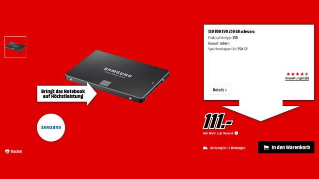 Samsung 850 Evo 250GB ©Media Markt
