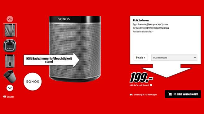 Sonos Play:1 ©Media Markt