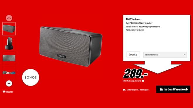 Sonos Play:3 ©Media Markt