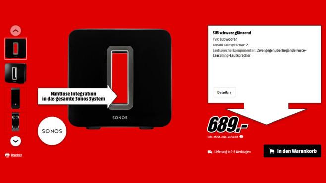 Sonos SUB ©Media Markt