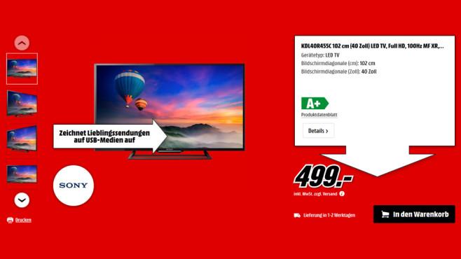 Sony KDL-40R455C ©Media Markt