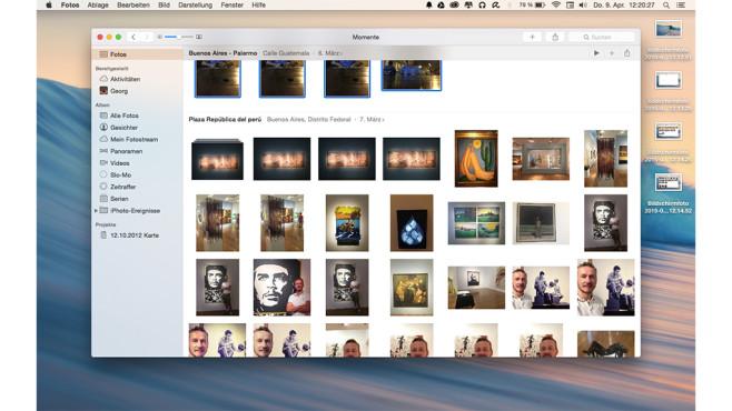 Der iPhoto-Nachfolger: Fotos für Mac OS ©Apple; COMPUTER BILD