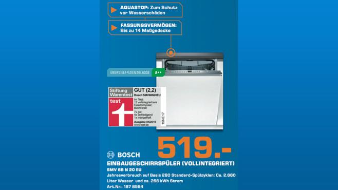 Bosch SMV68N20EU ©Saturn