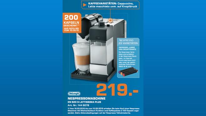DeLonghi Nespresso Lattissima+ EN 520 S ©Saturn