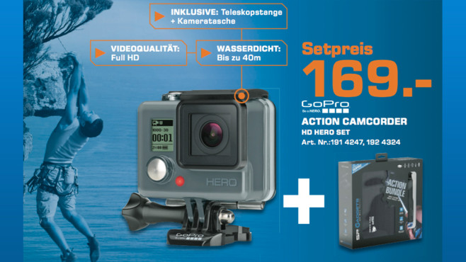 GoPro HERO + SP-Gadgets Action Bundle © Saturn