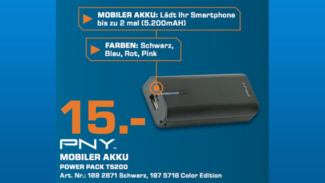 PNY PowerPack T5200 © Saturn