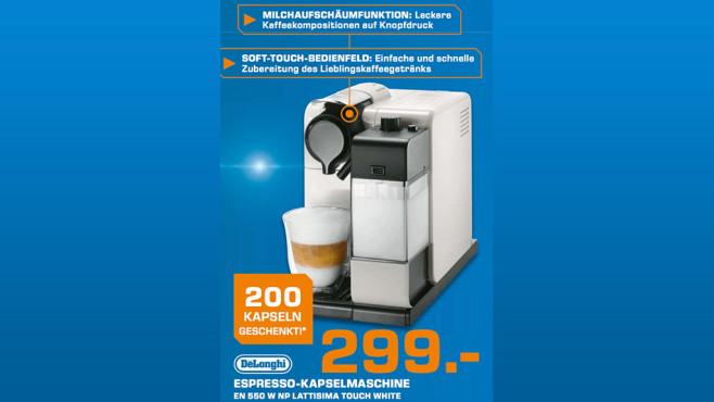 DeLonghi Nespresso Lattissima Touch EN550.W ©Saturn