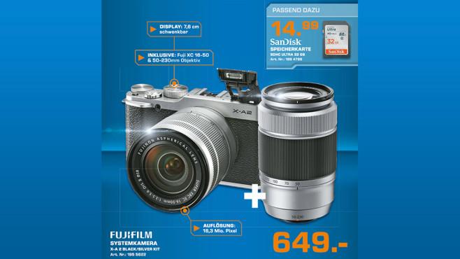 Fujifilm X-A2 Kit 16-50 mm + 50-230 mm ©Saturn