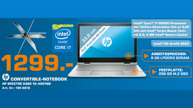 HP Spectre x360 13-4001ng ©Saturn