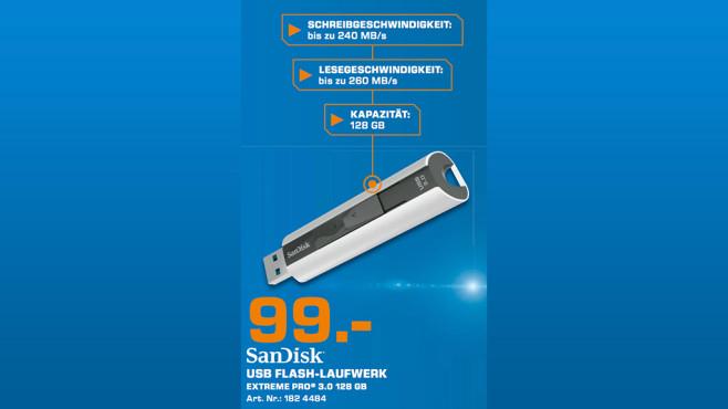 Sandisk Cruzer Extreme Pro USB 3.0 128GB ©Saturn