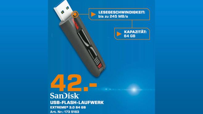 Sandisk Extreme USB 3.0 64GB ©Saturn