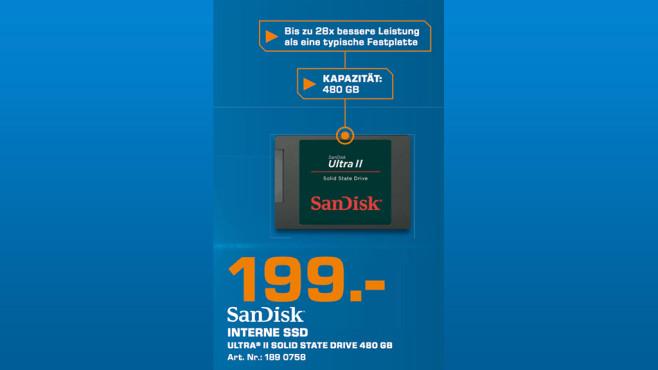 Sandisk Ultra II 480GB ©Saturn