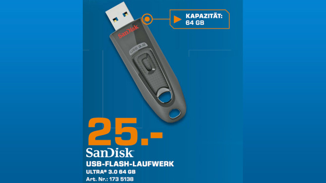 Sandisk Ultra USB 3.0 64GB ©Saturn