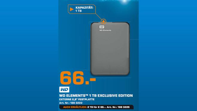 Western Digital Elements Portable 1TB ©Saturn