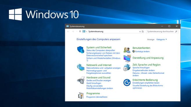 Windows 10 baut ab: Die Systemsteuerung kann immer weniger ©COMPUTER BILD, Microsoft