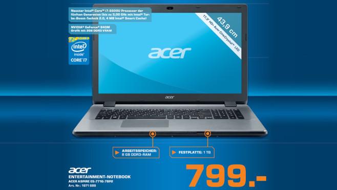 Acer Aspire E5 17 ©Saturn