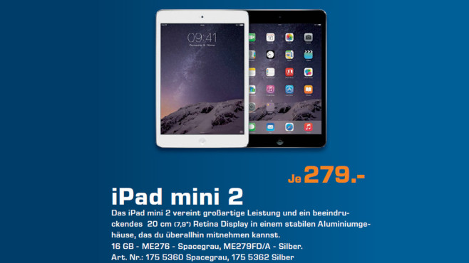Apple iPad mini Retina 16GB WiFi © Saturn