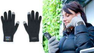 Die coolsten Bluetooth-Gadgets für das Smartphone Handschuhe und Telefonhörer zugleich: Mit den Smartphone-Handschuhen von Hi-fun nehmen Sie Anrufe entgegen und behalten dabei warme Hände. ©Hi-fun
