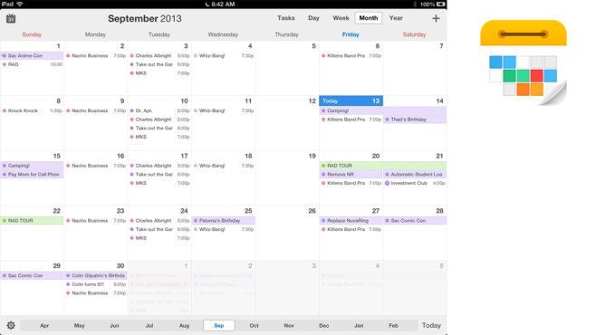 Calendar 5 – der intelligente Kalender © Readdle