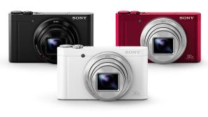 Sony DSC-WX500 in rot, weiß und schwarz ©Sony