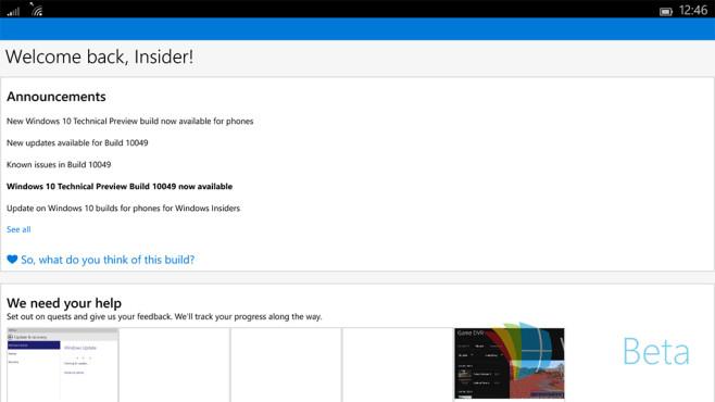 So sieht Windows 10 auf kleinen Tablets aus ©WinBeta.com