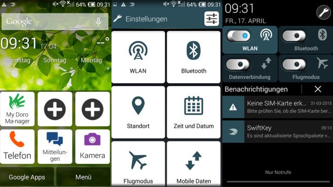 Das perfekte Handy für Oma: Senioren-Smartphones im Überblick Klare Übersicht: Senioren-Smartphones, etwa das Doro Liberto 820 Mini, bieten große Funktionssymbole und Schriftelemente. ©COMPUTER BILD
