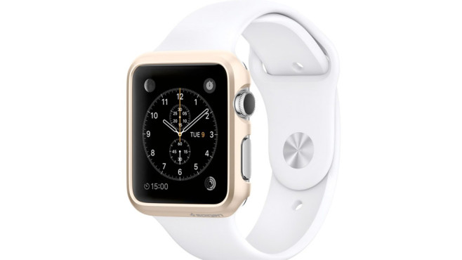 Goldenes Case für Apple Watch © Spigen