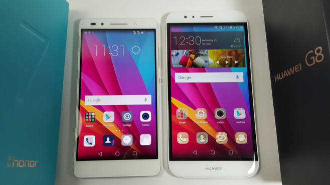 Honor 7 vs Huawei G8 © COMPUTER BILD
