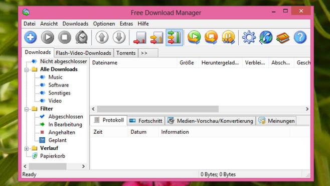 Free Download Manager: Herunterladen beschleunigen ©COMPUTER BILD
