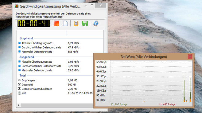 SoftPerfect Networx: Detaillierte Auswertungen vornehmen ©COMPUTER BILD