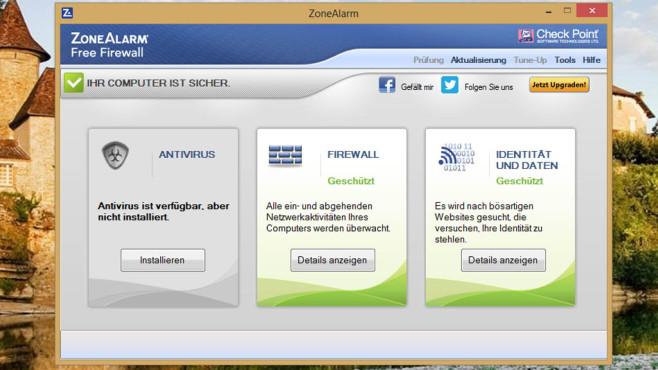 ZoneAlarm Free Firewall: Schutzschild für unsichere WLANs ©COMPUTER BILD