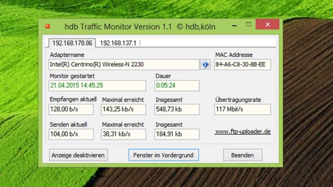 hdb Traffic Monitor: Datenmengen einfach analysieren ©COMPUTER BILD
