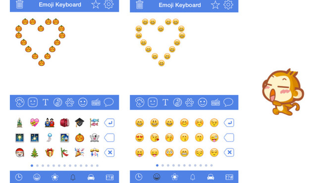 Emoji Keyboard für iOS ©Zhong XiaoMi