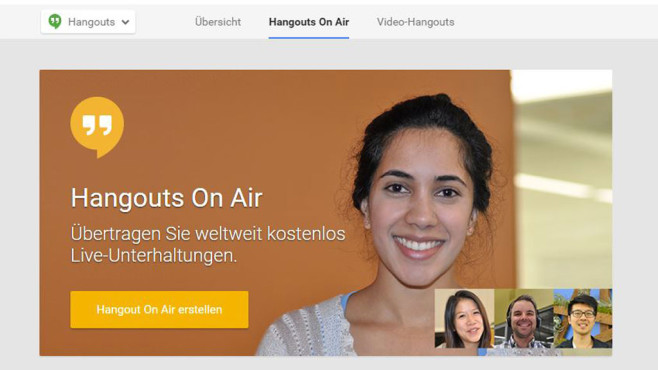 Hangouts on Air © Screenshot Google Hangouts on Air
