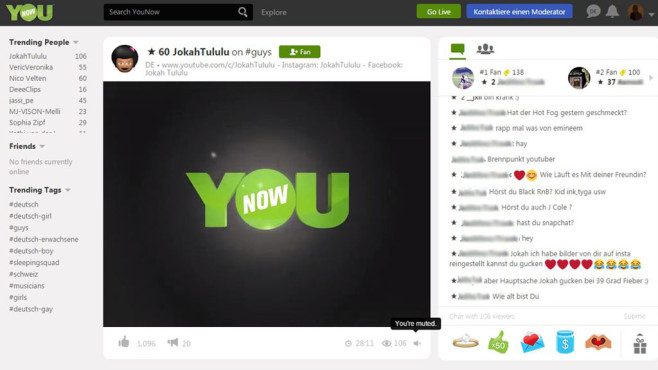 YouNow © Screenshot YouNow