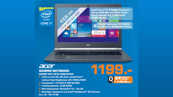 Acer Aspire VN7-791G-70DB © Saturn