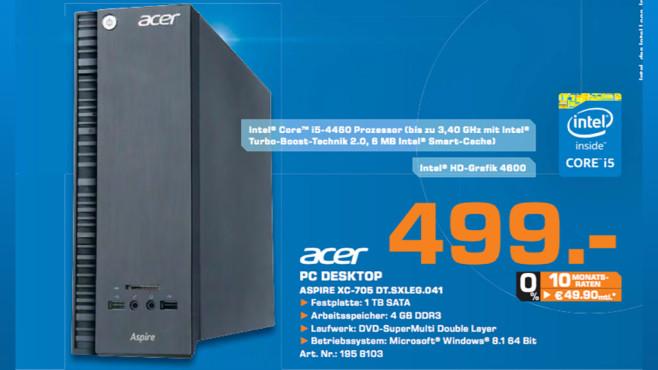 Acer Aspire XC705 ©Saturn