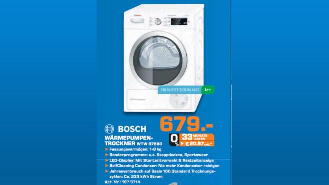 Bosch WTW87560 ©Saturn