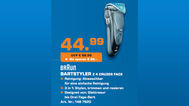 Braun CruZer4 Face © Saturn