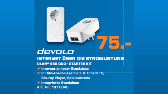 Devolo dLAN 550 duo Starter Kit © Saturn