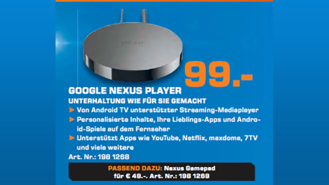 Google Nexus Player © Saturn
