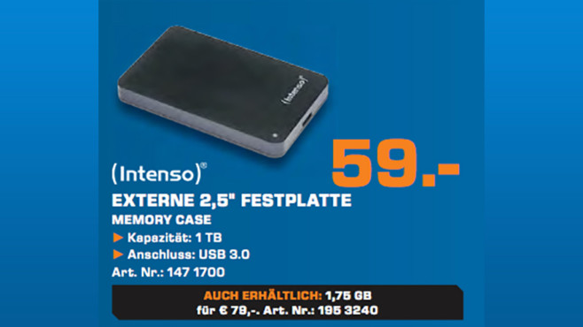Intenso Memory Case 1TB © Saturn
