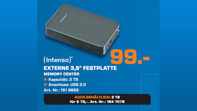 Intenso Memory Center 3TB © Saturn