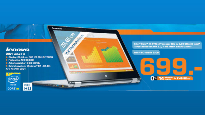 Lenovo IdeaPad Yoga 3 11 © Saturn