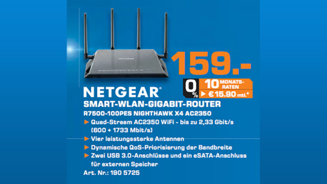 Netgear Nighthawk X4 © Saturn