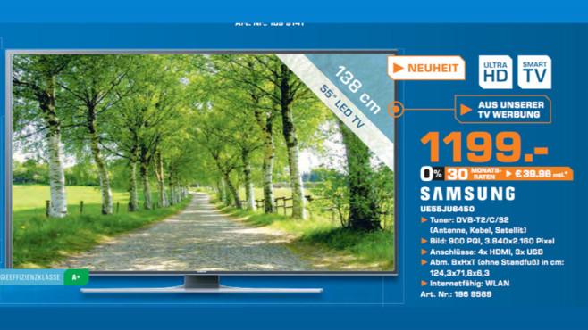 Samsung UE55JU6450 ©Saturn