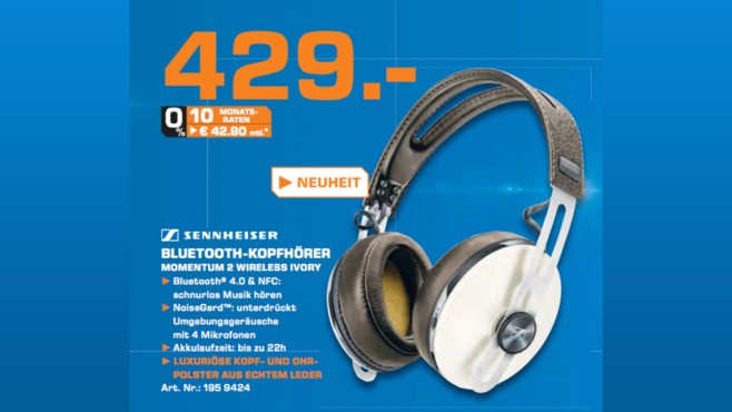 Sennheiser Momentum Wireless Over-Ear © Saturn