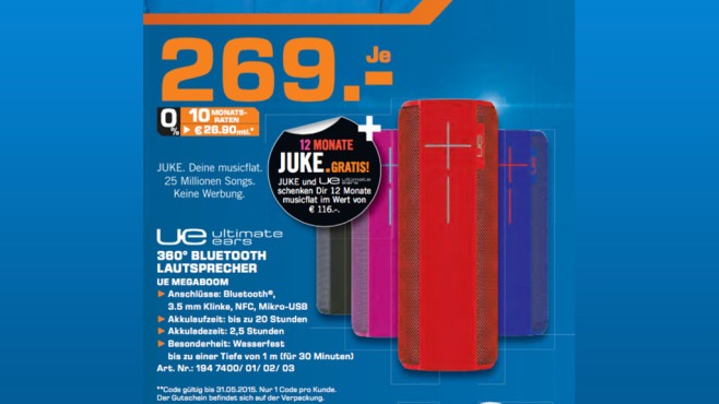Ultimate Ears Megaboom © Saturn