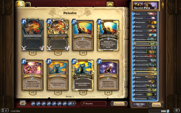 Hearthstone: Secret-Paladin © Blizzard